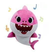 Pelúcia Baby Shark 25cm Rosa Pink Com Som - Issam