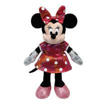 Pelúcia Beanie Babies Minnie Mouse Vestido Rosa - DTC -