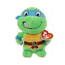 Pelúcia Beanie Babies - Tartarugas Ninjas - Leonardo - 20cm - DTC -