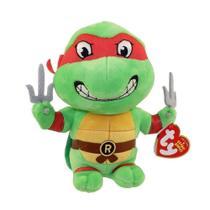 Pelúcia Beanie Babies - Tartarugas Ninjas - Raphael - 20cm - DTC -