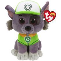 Pelúcia Beanie Boos Ty Patrulha Canina Rocky Dog Dtc 17cm -