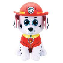 Pelúcia Beanie Buddies Ty Patrulha Canina Grande - Marshall - DTC -