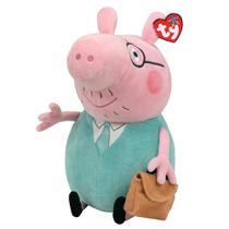 Pelúcia Beanie Buddies Ty Peppa Pig M - Daddy - DTC -