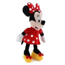 Pelúcia com Sons - 33 Cm - Disney - Minnie Mouse - Vestido Vermelho- Multikids -
