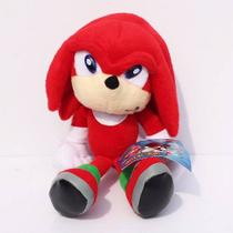 Pelúcia Knuckles Turma Do Sonic Grande 23cm Boneco Game