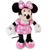 Pelúcia Original Disney Store MINNIE MOUSE Vestido Rosa Pink 34 cm -