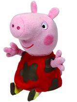 Pelúcia Peppa Pig com Laminha 15cm Ty DTC -
