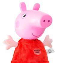 Pelúcia Peppa Pig Com Sons 34cm - Estrela -