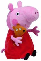 Pelúcia Peppa Pig com Ursinho Grande 50cm Ty DTC -