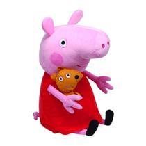 Pelucia Peppa Pig Vestido Vermelho 50cm 4537- Dtc -