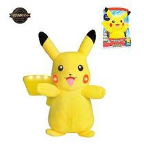 Pelúcia Pokémon Pikachu Power Action Com Luz E Som - Dtc -