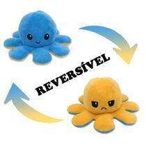 Pelúcia Polvo Das Emoções Reversível Amarelo e Azul - Polvo Bbr