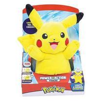 Pelúcia Power Action Pokemon Pikachu Luz E Som Dtc -