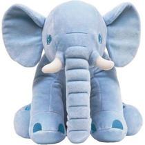 Pelucia Travesseiro Almofada Elefante Azul  Antialergico para Bebe  - Buba. -