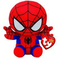 Pelucia Ty Beanie Babies - Marvel - Homem Aranha DTC -