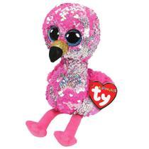 Pelúcia Ty Beanie Boos Paetês M - Flamingo Pinky - DTC -