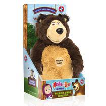 Pelúcia Urso Com Som - Masha e o Urso - Estrela -