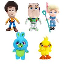 Pelucias toy story 5 disney dtc - kit c/ 5 personagens