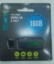 Pen drive 16 gb micro sd preto maxprint