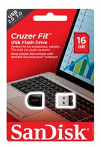 Pen drive 16GB Cruzer Fit Sandisk
