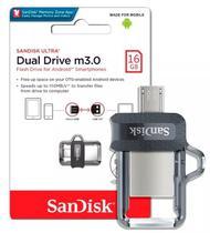 Pen Drive 16gb Dual Drive Usb 3.0 e Micro-Usb Sandisk -