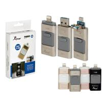 Pen Drive 16Gb Usb 2.0 Memória Flash Para Iphone5, Ipad, Mac, Pc, V8 Kp-U10 - Knup