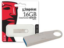 Pen Drive 16GB USB 3.0 Kingston DTSE9G2/16GB Datatraveler SE9 G2 Prata