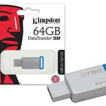 Pen drive Kingston Dt50/64gb datatraveler 50 64gb USB 3.1 metal azul -