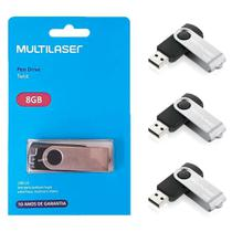 Pen Drive Multilaser Twist 8gb Preto Pd587