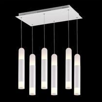 Pendente com 6 Tubos LED Branco Quente (3000K) 60W - Hunter