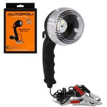 Pendente de Luz Autopoli 12 LEDs 12V 21W Lanterna de Apoio Emergência Bateria Garras Jacaré -