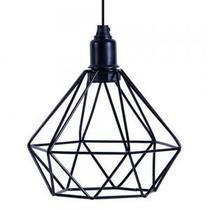 Pendente de Teto Aramado Diamante Modelo Hannover Preto - Atelier luz