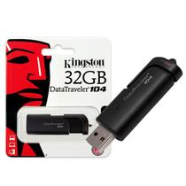 Pendrive 32GB Kingston DT104/32GB Datatraveler 104 USB 2.0 Preto -