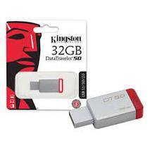 Pendrive 32gb Usb 3.1 Kingston Dt50  Datatraveler 50 Metal Vermelho