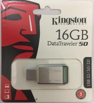 Pendrive Kingston 16gb Data Traveler 50 Usb 3.1 / 3.0 / 2.0 -
