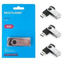 Pendrive Multilaser 8 Gb Twist Pen Drive Original - kit 5 Unidades