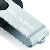 Pendrive twist preto 16gb - Multilaser