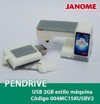 Pendrive USB 2GB estilo máquina Janome -