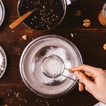 Peneira em Aço Inoxidável Pequena Tela Fina Coador Polvilhar Ø 8 x 21 cm Utensílio de Cozinha - Mundiart