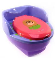 Penico Musical Menina Troninho Infantil Hipopótamo 3 Em 1 - Love