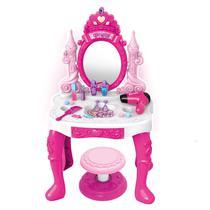 Penteadeira Coroa da Princesa Diversos Acessórios Som Luz - BarrettoMegaStore