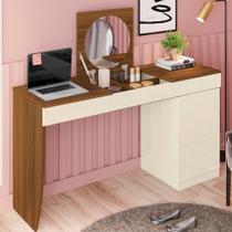 Penteadeira e Escrivaninha 1 Porta Crystal Belaflex - Mobler