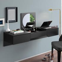 Penteadeira/ Escrivaninha Suspensa Elegance Preto Fosco - Mobler -