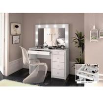 Penteadeira Star 5 Gavetas e 1 Espelho - Branco - Miller Interiores