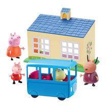 Peppa Escolinha e ônibus escolar com 4 figuras DTC 4858 -