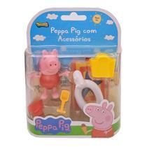Peppa Pig com Acessórios Roupa Vermelha 2317 - Sunny -