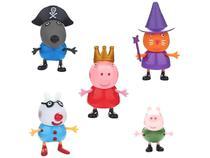 Peppa Pig Conjunto com 5 Bonecos 6cm - DTC