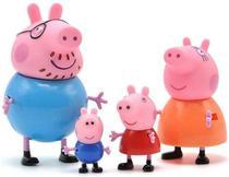 Peppa Pig Família Da Peppa 4 Figuras De 5cm - Sunny -