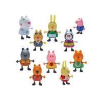 Peppa Pig Fantasias Conjunto Com 10 Figuras Articuladas Serie 1 Dtc -