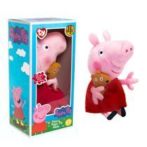 Peppa Pig Pelúcia Média Com Ursinho DTC 4536 Original -